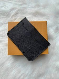 2020 Top High Quality Men Women Credit Card Holder Paris style Designer Classic Mini Bank mens Card Holde designer women wallet With Box