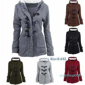 women designers clothes 2020 Cotton Coat Women Autumn and Winter Thicken Wool Jacket Horns Buckle Warm Hooded Jacket