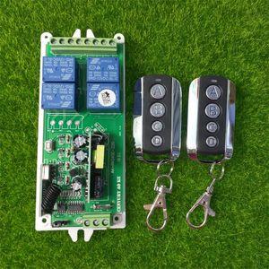 (AK0923) 85V 110V 220V 4CH 10A RF Wireless Remote Control System Radio Wireless Lighting Switch Distance For Industry Equipment