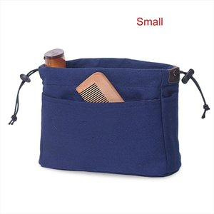 Cosmetic Bags Canvas Purse Wear resistant Organizer Bag Waterproof Organizer Insert With Compartments Makeup Travel Storage Handbag