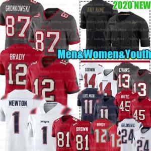 12 Tom Brady Jerseys 1 Cam Newton 81 Antonio Brown 87 Rob Gronkowski جديد تامباخليجبوكانير إنجلتراباتريوت جوليان إديلمان