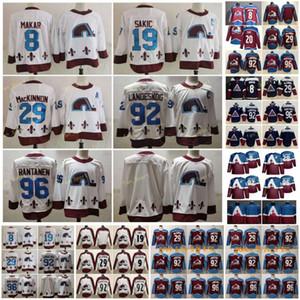 2021 Retro Colorado Avalanche 20 Brandon Saad Hockey Jersey 8 Cale Makar 29 Nathan Mackinnon 96 Mikko Rantanen 92 Gabriel Landeskog
