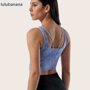 Gym Vêtements Lulubana Sports Soutien-gorge Pour Femme Cadou Cravate Cadre Super Elastic Crop Tanks Débardeurs de remise en forme de fitness