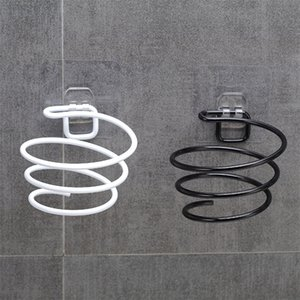 Simple Secador de pelo Soporte de almacenamiento Metal Air Sopler Rack Negro Color Blanco Cuarto Hogar Soporte Colgando Pared 2 8DS E1
