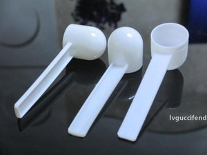 1000pcs lot Professional White Plastic 5 Gram 5g Scoops Spoons For Food Milk Washing Powder Medicine Measuring