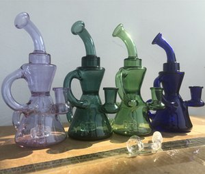 recycler oil rigs smoke pipe unique water bongs heady glass dab rigs accessory hookahs shisha cigarette with 14mm banger
