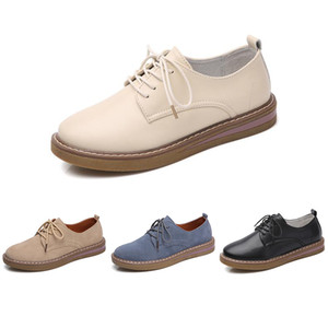 New arrival women leather shoes color triple white black beige blue fashion comfortable women casual snerakers size 35-40