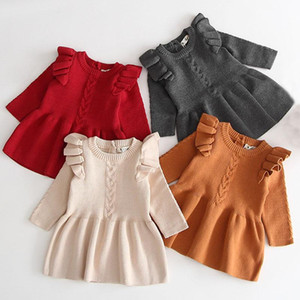 Baby Girl Dresses 2020 Autumn Baby Girl Clothes Winter Girls Wool Knitted Sweater Dress Girls Dresses Toddler Sweaters