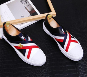2021 고품질 패션 남자 높은 트리 리바트 원인 럭셔리 신발 남성 레드 골드 블랙 바닥 신발 로퍼. 38-43.