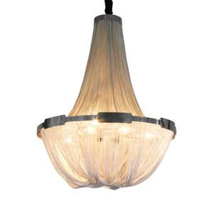 LED Pendant Lamp Modern Aluminum Stream Suspension Lighting E12 E14 Designer Pendant Lights Silver or Gold Living Room