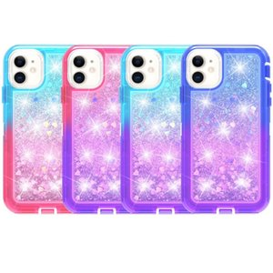 Gradient double couleur Quicksand TPU antichocs Dirt épreuve Phone Case pour iPhone 12 Mini 12 Pro Max