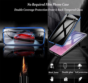 360 Magnetic Metal Adsorption Phone Case For Samsung S20 Plus Case Galaxy S8 S10 Plus Double Side Glass Full bbyzrn packing2010