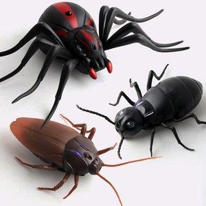 الأشعة تحت الحمراء RC التحكم عن بعد لعبة الحيوان الحشرات الأطفال مؤذ لعب العناكب الذكية anshalloween pran للبالغين المزحة الحشرات Y200413