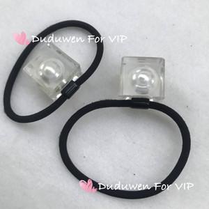 2cmx2cm Block Inside Pearl Haarseil Mode Hair Band Party Geschenk Mode Haar Krawatte C Marks Duduvip