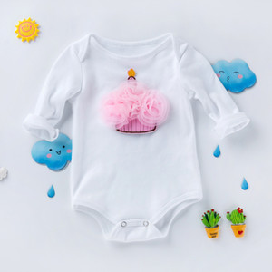 kids  clothes New style long sleeve high quality cotton hatsuit creeper 0-2 year old baby suit