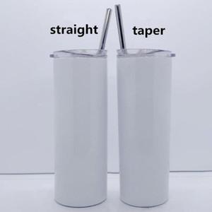DIY sublimation skinny tumbler 20oz stainless steel slim tumbler straight tumblers vacuum insulated travel mug best gift