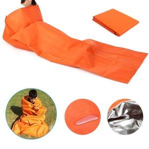 200 * 100см Портативный Sleping сумка Открытый кемпинга спальный мешок водонепроницаемый Emergency Survival Sleeping мешок для кемпинга Туризм