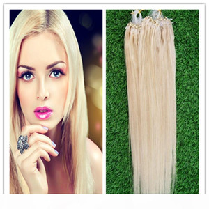 Hot sale 60# Micro link Nano Loop Ring Human Hair Extensions 100g 100S Grade 6A Unprocessed Brazilian Virgin Straight Hair STOCK