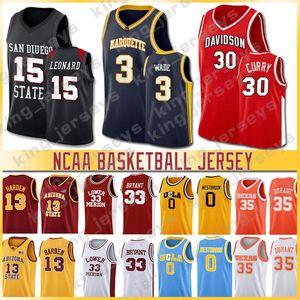 00122 NCCA Duke Jersey Ja Homens LeBron Moran Durant Harden Curry Stephen College Basketball Jerseys Russell Westbrook Zion Iverson Williamson