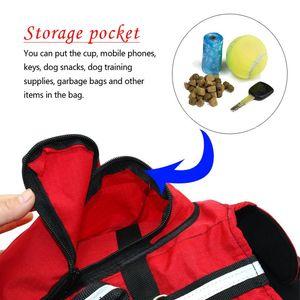 Dog Backpack Harness Pet K9 Hound Outdoor Vest Harnesses Travel Camping Hiking Backpack Saddle Bag Carrier For Medium La bbyHoS