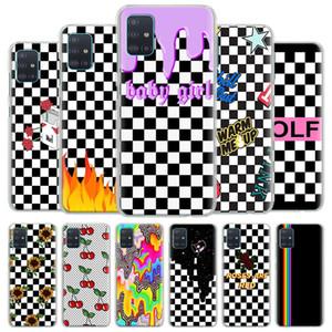 Checkerboard case Samsung Galaxy A50 A70 A51 a71 A10 a10s a20s A30 a40 a11 a21s A31 A41 hard case