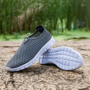 with box Men Casual Shoes Breathable Mesh Sneakers 2019 New Fashion Sandals Loafers Water Driving Shoes Men Zapatos De Hombre Men