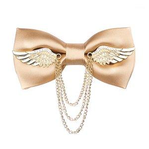 NOUVEAU Diamond Golden Bow Cravate pour hommes Mariage Business Banque Ensentures Accessoires Cadeau Fournisseur de: Bowtie réglable à la main1