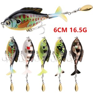 5 Color Mixed 6cm 16.5g Pencil Hard Baits & Lures 6# Blood Slot Hook Fishing Hooks W7-310