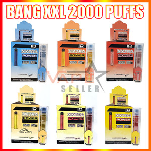 New Bang XXL Dispositivo de vape vape desechable 800mAh batería 6ml vainas 2000 Puffs Vapores Bang XXTRA VAPE KIT