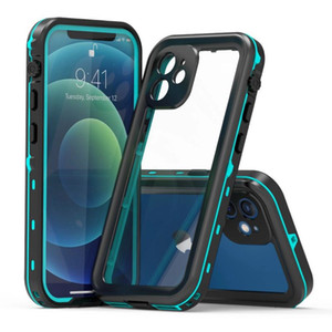 Per iPhone 11 12 xs max x 8 7 Plus Samsung Galaxy S20 Nota 20 Custodia impermeabile Custodia impermeabile Caricabatterie wireless impermeabile