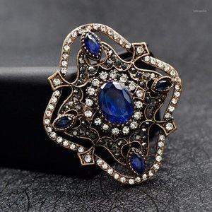 Cindy Xiang Rhombus Blue Retro Broschen für Frauen Vintage Mode Brosche Pin Schmuck 2 Farben erhältlich GOOD GESCHENK1