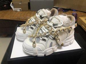 Fashion Brand Men Женская обувь Дизайнерские кроссовки с высоким качеством Повседневные туфли Flashtrek Ace Обувь Дизайнерская Обувь с Кристаллом