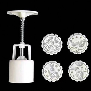DIY Hand Pressing Mooncake Mould Fashion Flowers Style Moon Cake Mold Set For Kitchen Baking Tool Eco Friendly 4 2zf ZZ