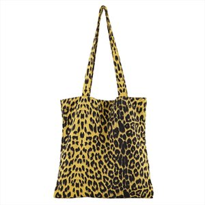 Womens Fashion Simple Handbag Leopard Casual Shoulder Bag Folding Bag Drop Shipping Good Quality