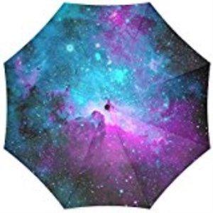 100% Fabric Aluminium Umbrella Custom Space Nebula Universe Foldable Rain Umbrella 3 Folding Parasol Sun Protection Anti-UV Z528