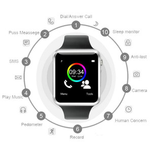 A1 Smart Watch 2020 Bluetooth Watch Sport Pedometer Passometer With SIM Card Camera For Android ios Smart watch