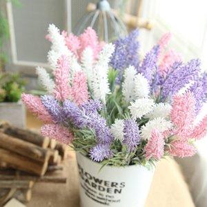 1 stück künstliche lavender gefälschte kunststoff pflanze 4 farben lila lavendel blumen für hochzeit home teil dekoration
