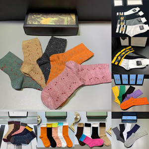 20ss Designer mens socks socks wolf embroidery casual tiger pure cotton sports winter men embroidery socks gift box set
