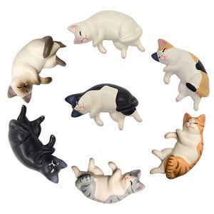 1Pcs Cat Fridge Magnets Cartoon Kitten Animal Figurine White Board Sticker Refrigerator Magnets Kids Toy Home Decoration DHL Free