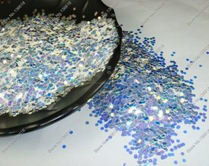 """1 12""""(2MM) 080 White with Blue Light Shinning Glitter Hexagon Spangle Shape for Gel Nail Art&Craft Decoration"""