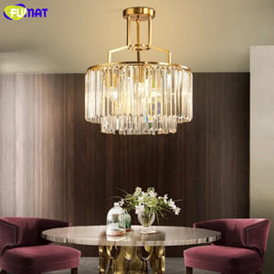 FUMAT Modern minimalist chandeliers for living room crystal chandelier dining room ceiling chandelier lighting fixtures copper lustres