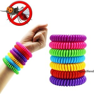 Anti Mosquito Repellent Bracelets Multicolor Pest Insect Control Stretchable Elastic Coil Spiral hand Wrist Band for Adults Kids Outdoor