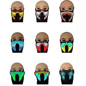 Свет светодиодные езды с EL Sound Mask Up Voice Dance Control Active для музыки Flash Катание на коньках Маски для вечеринок IIA259 SLVIH