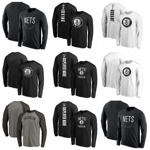 mens tracksuitBrooklynNets camisetas DE Baloncesto;T-shirt for recreational warm-up athletes to salute