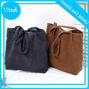 Fashion Women Corduroy Shoulder Bag Dead Pure Top Handle Cups Satchel Messenger Handbag