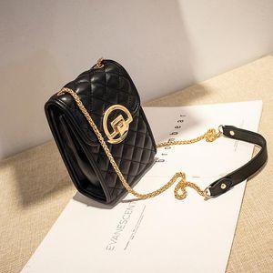 Сумки на ремне Классическое стеганое стеганые кошельки PU и сумочка Многофункциональная кожаная сумка для кожи Ретро алмазная решетка дама мини-телефон