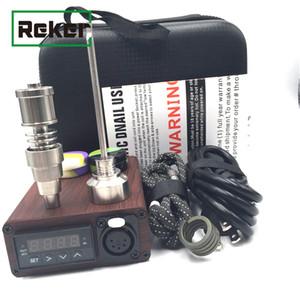Portable pas cher ENail électrique Dab Nail Pen Rig Wax PID TC boîte avec Ti Titanium Domeless Heater Coil E quartz kit ongles pad de silicone