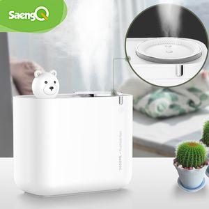Saengq Large Capacity Air Humifier Ultrasonic Electric Air Humifier Purification Aroma Air Diffuser LED Light 3000Ml Free Shipping