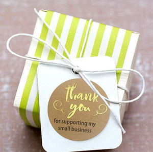 500pcs Thank You For Supporting My Business Kraft Stickers With Gold Foil Round Labels Sticker For Small S bbyEds packing2010