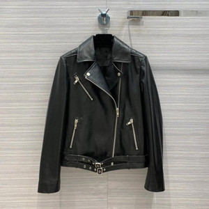 2020 winner new women 100% genuine leather jacket coat female casual back sequined coat gdnz 8.25
